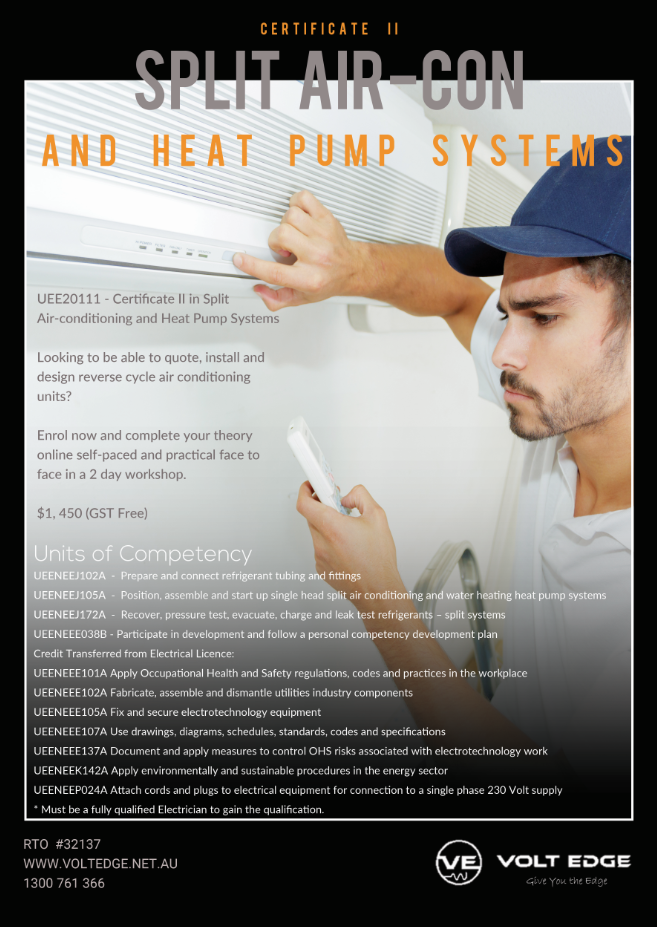 Certificate II in Split Air-conditioning and Heat Pump